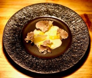 Compressed yolk agnolotti, Strauss truffe butter, Alba white truffle, Parmigiano Reggiano